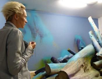 Katharina Grosse - mein schreibtisch das schneefeld