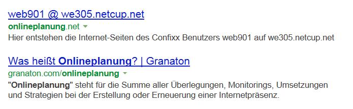 Bing Bestandsaufnahme Onlineplanung