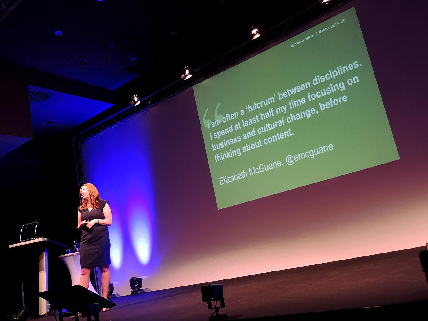 Margot Bloomstein beim Content Strategy Frankfurt 2014