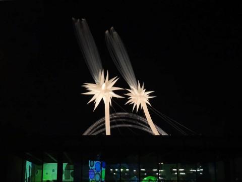 Otto Piene - Sky Art Event, More Sky, Neue Nationalgalerie, Berlin, zwei Sterne