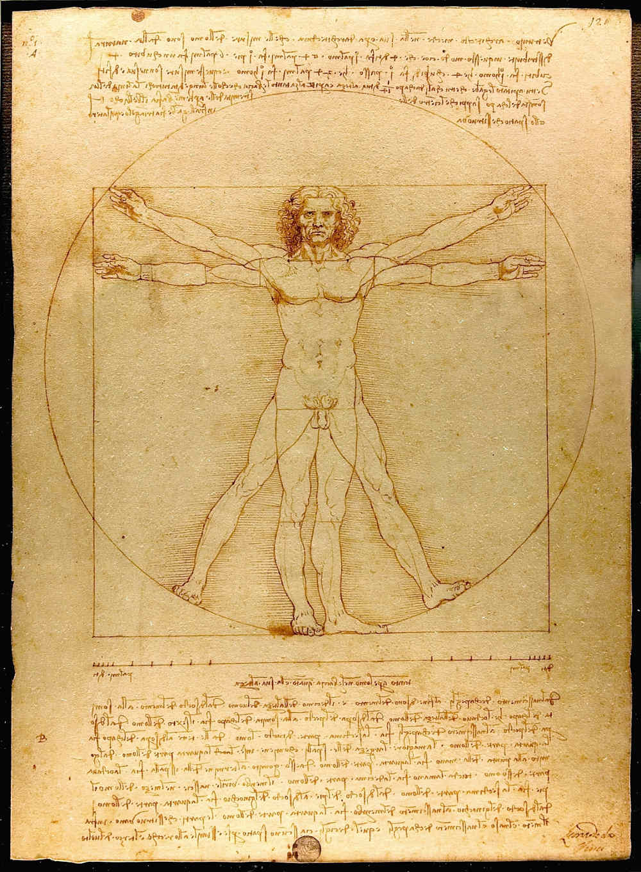 Leonardo da Vinci schuf mit dem Vitruvianischen Menschen die Ikone der Infografik schlechthin.