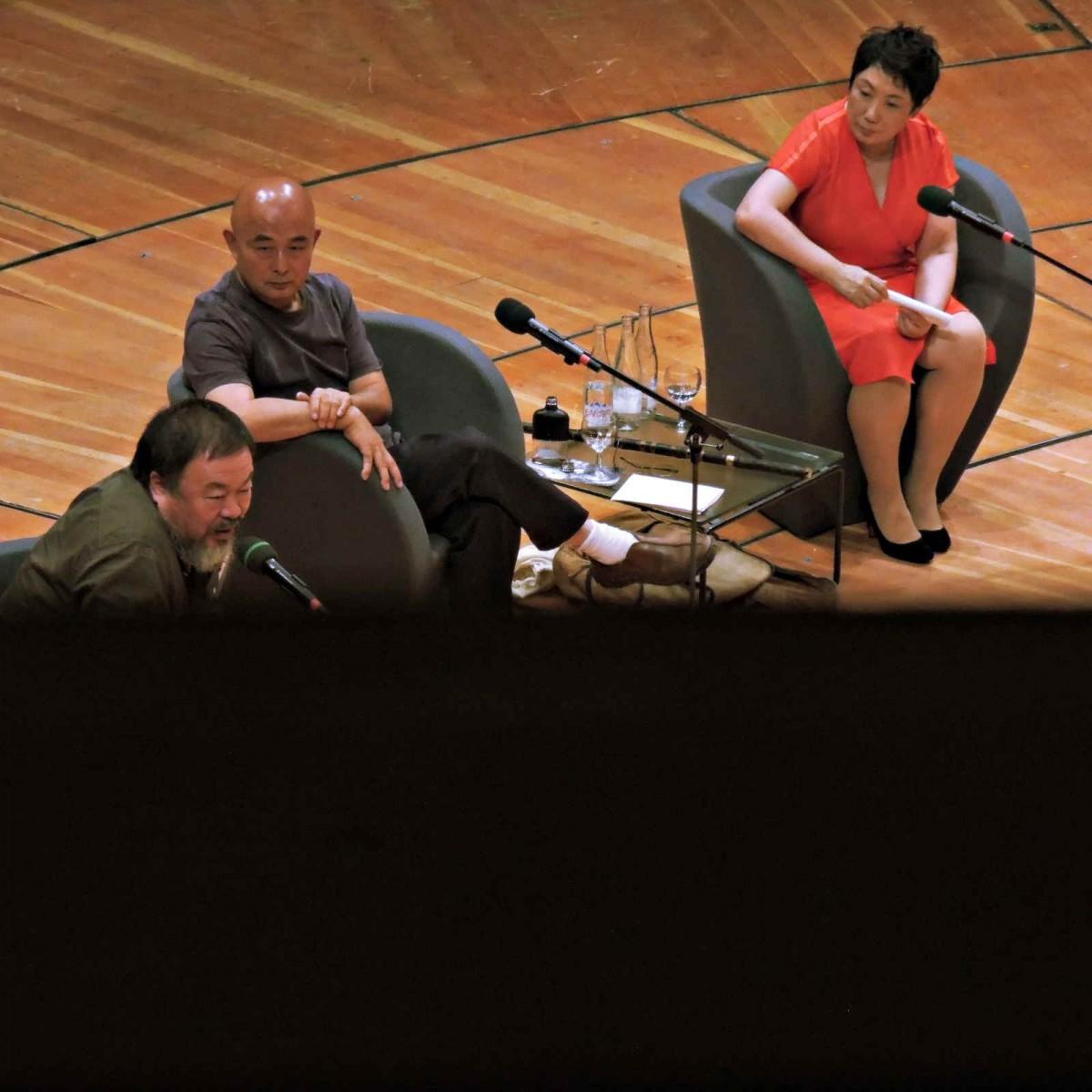 Ai Weiwei und Liao Yiwu im Gespräch, Philharmonie, 15. Literaturfestival Berlin